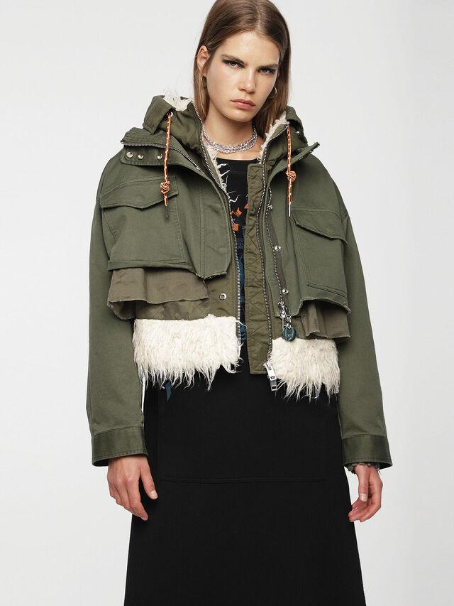 Diesel - W-LOTTI, Military Green - Winter Jackets - Image 1