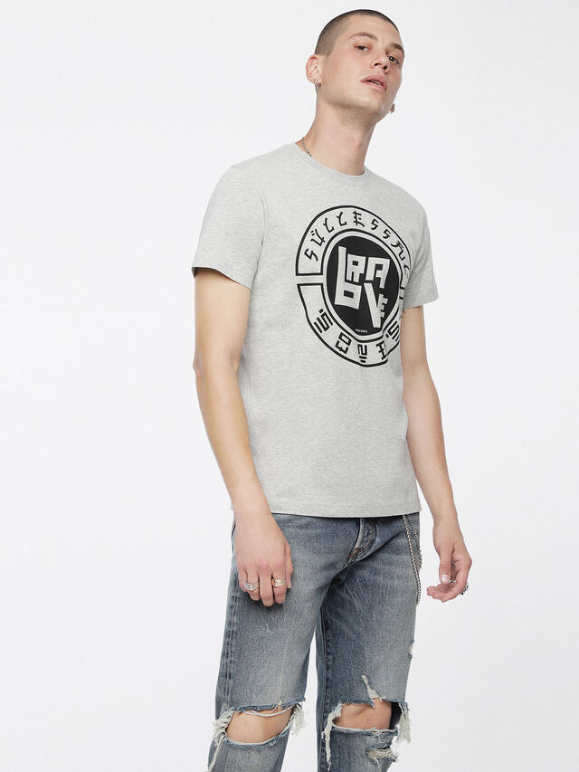 Diesel - T-DIEGO-XC, Light Melange - T-Shirts - Image 1
