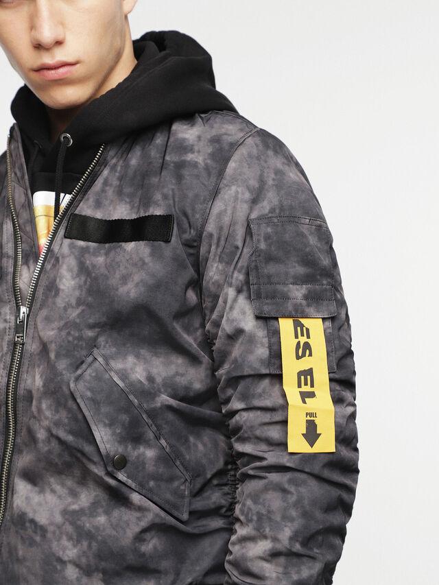 Diesel - W-NOVELS, Black Melange - Jackets - Image 3