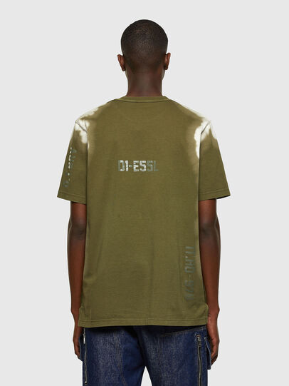 Diesel - T-JUBIND-SLITS-A3, Military Green - T-Shirts - Image 2
