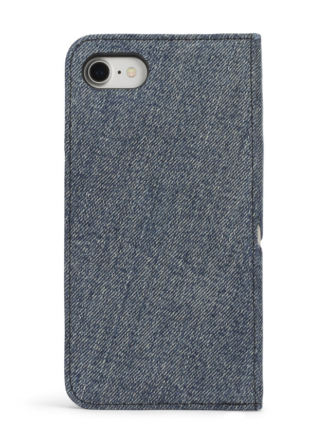 Diesel - DENIM IPHONE 8/7 FOLIO, Blue Jeans - Flip covers - Image 4