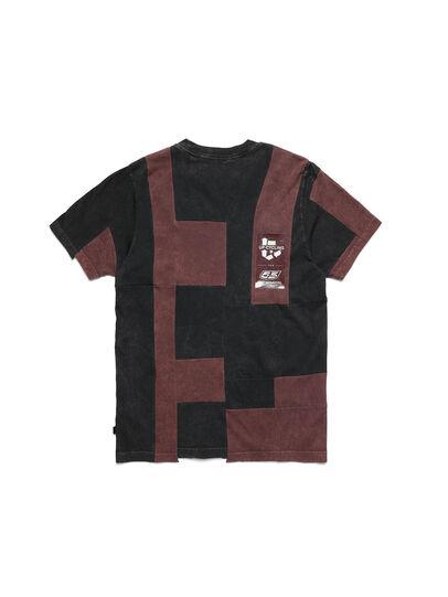 Diesel - D-FRANK&STEIN, Red/Black - T-Shirts - Image 2