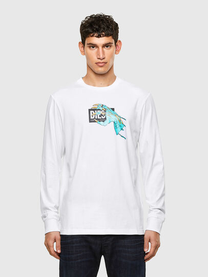 Diesel - T-JUST-LS-A1, White - T-Shirts - Image 1