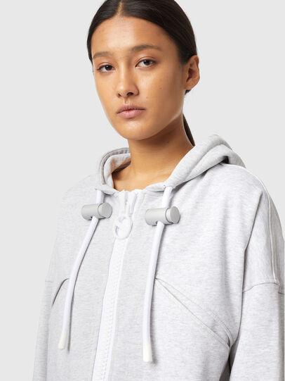Diesel - F-CROPPY-ZIP, Light Grey - Sweaters - Image 3