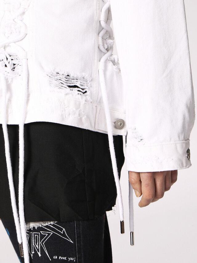 Diesel - DE-OCYD, White - Denim Jackets - Image 4