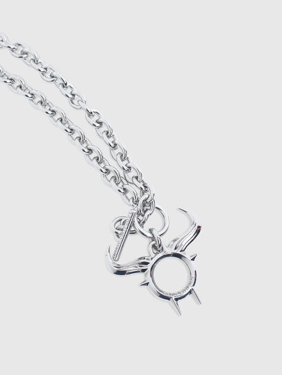 Diesel - CL - NECKLACE CNY, Silver - Bijoux and Gadgets - Image 2