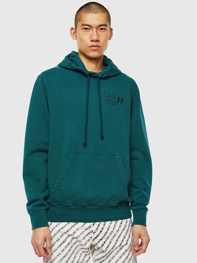 Diesel - S-GIRK-HOOD-SUN, Dark Green - Sweaters - Image 1