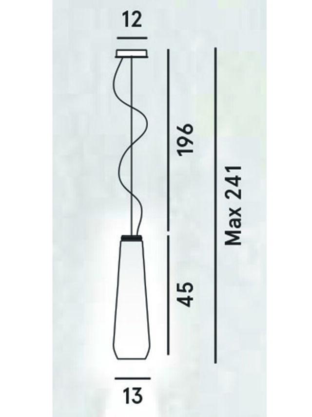 Diesel - GLAS DROP, Grey - Hang Lighting - Image 2