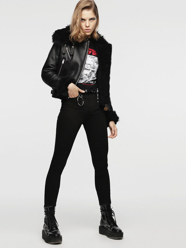Diesel - L-TIA, Black Leather - Leather jackets - Image 7