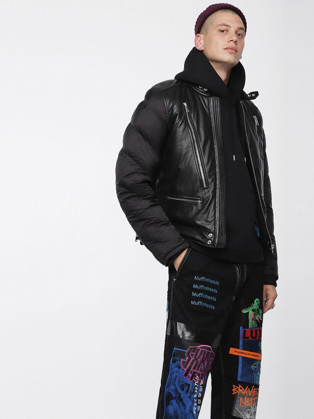 Diesel - L-WINTER, Black - Leather jackets - Image 1