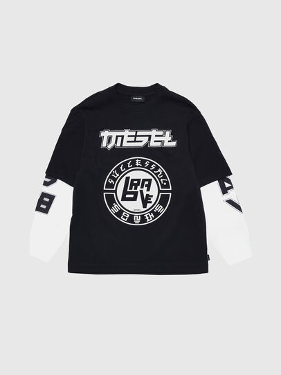 Diesel - TSOUND OVER, Black/White - T-shirts and Tops - Image 1