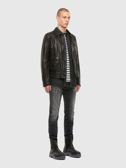 Diesel - L-LUC, Black - Leather jackets - Image 7
