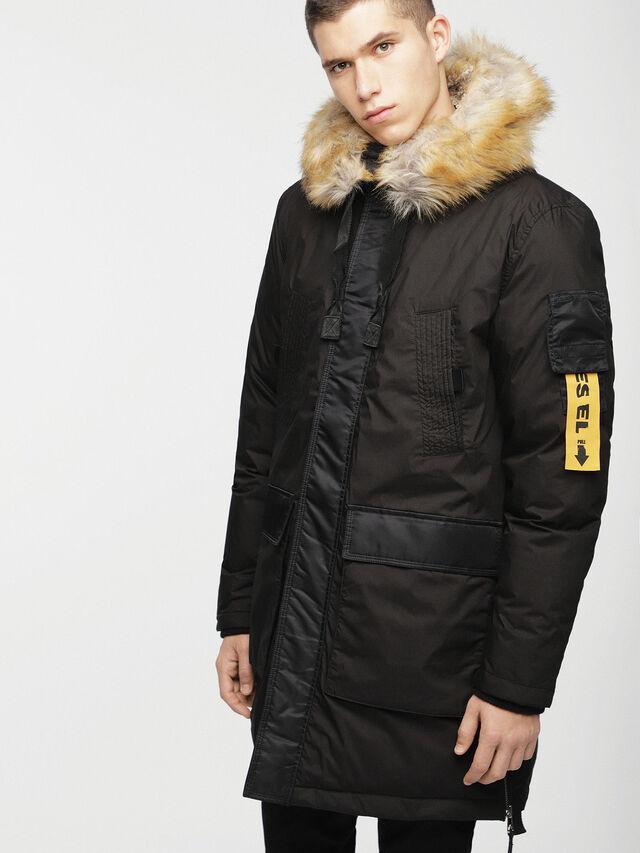Diesel - W-BULLION, Black - Winter Jackets - Image 1