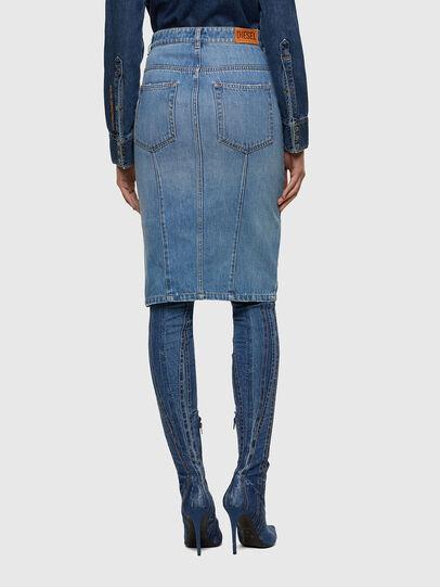 Diesel - DE-PENCIL-ZIP, Light Blue - Skirts - Image 2
