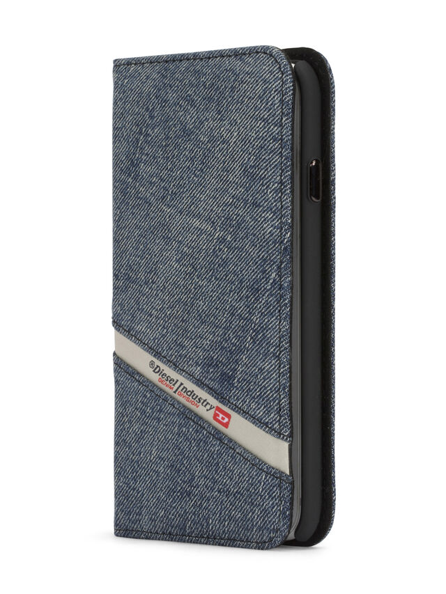 Diesel - DENIM IPHONE 8/7 FOLIO, Blue Jeans - Flip covers - Image 3