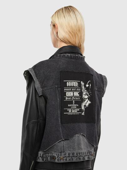 Diesel - L-KELLY, Black - Leather jackets - Image 3
