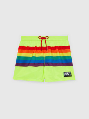 BMBX-WAVE 2.017-P, Green Fluo - Swim shorts