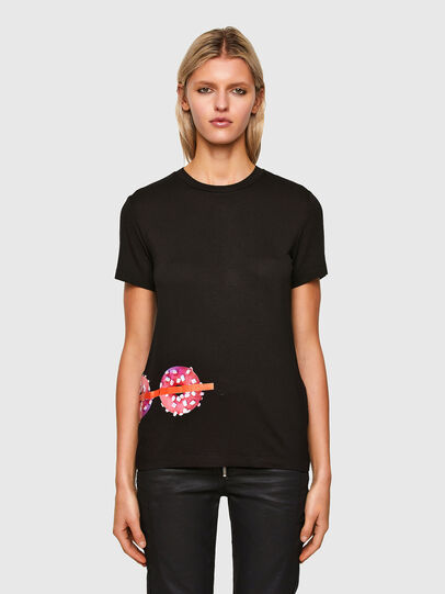 Diesel - T-SILY-R7, Black - T-Shirts - Image 1