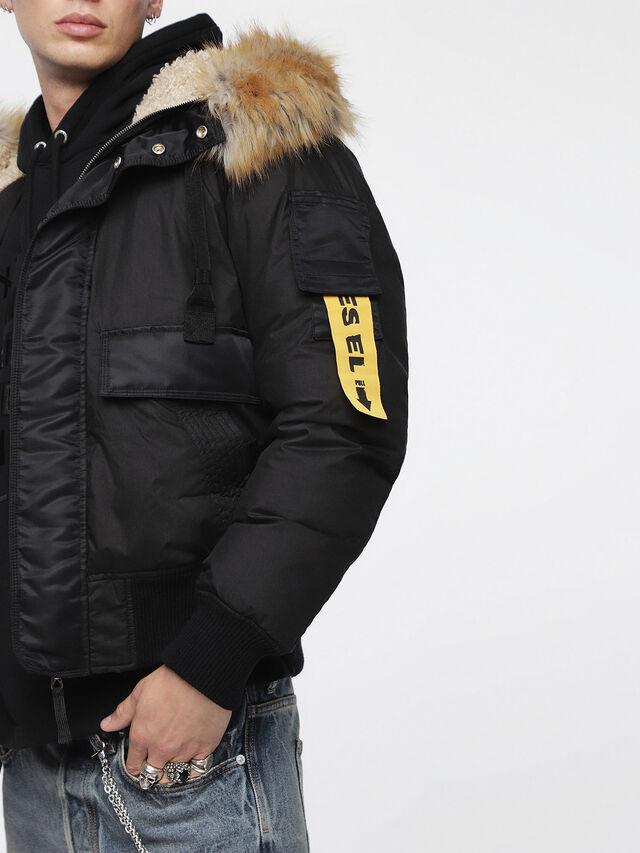 Diesel - W-BURKE, Black - Winter Jackets - Image 3
