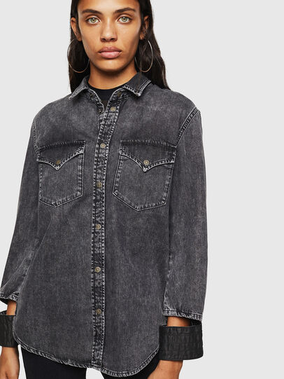 Diesel - DE-COLLY, Black/Dark grey - Denim Shirts - Image 1