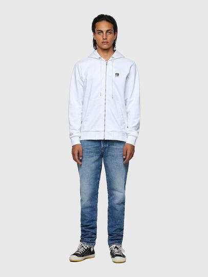 Diesel - S-GIRK-HOOD-ZIP-K1, White - Sweaters - Image 4