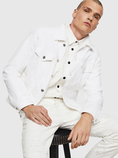 Diesel - NHILL, White - Denim Jackets - Image 4