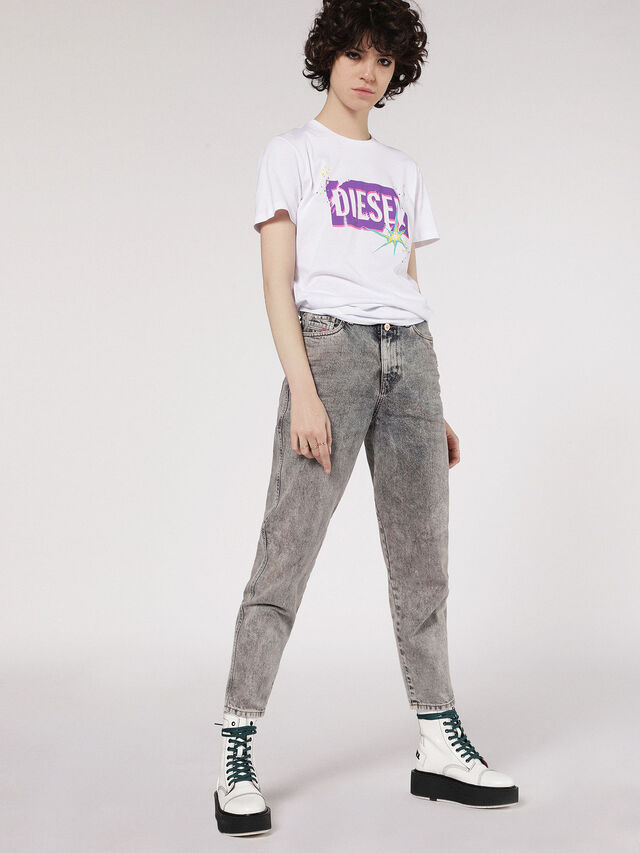 Diesel - T-EXPLO, White - T-Shirts - Image 4