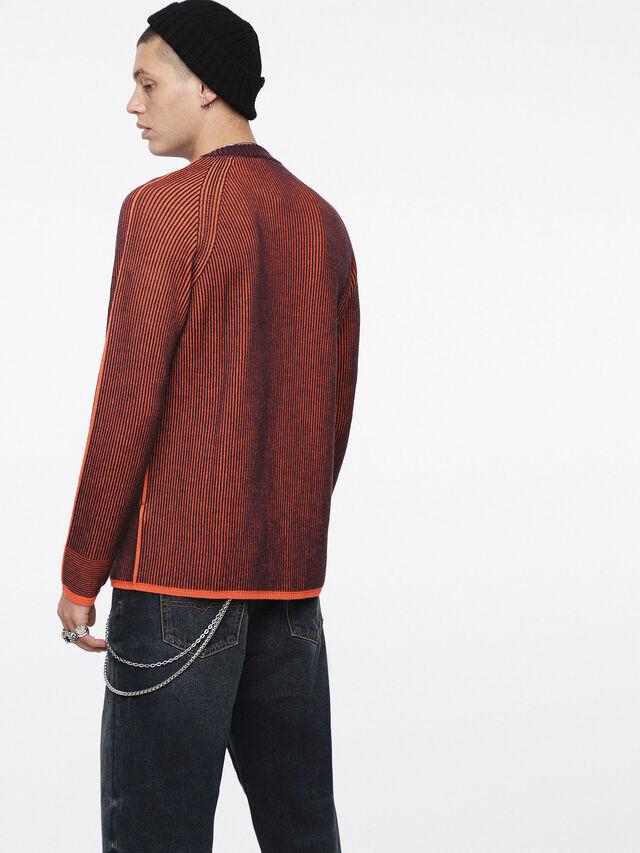 Diesel - K-BLEND, Orange/Black - Knitwear - Image 2