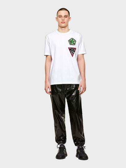 Diesel - T-JUBIND-SLITS-E1, White - T-Shirts - Image 4