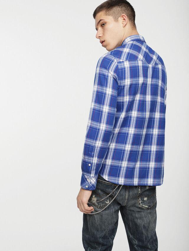 Diesel - S-EAST-LONG-C, Blue/White - Shirts - Image 2