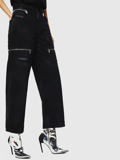 Diesel - Widee 069JA, Black/Dark grey - Jeans - Image 3