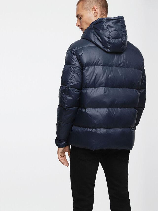Diesel - W-SMITH-A, Blue - Winter Jackets - Image 2