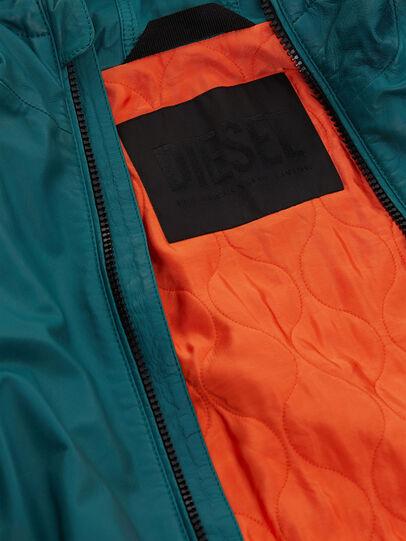Diesel - L-MATHIAS, Water Green - Leather jackets - Image 6