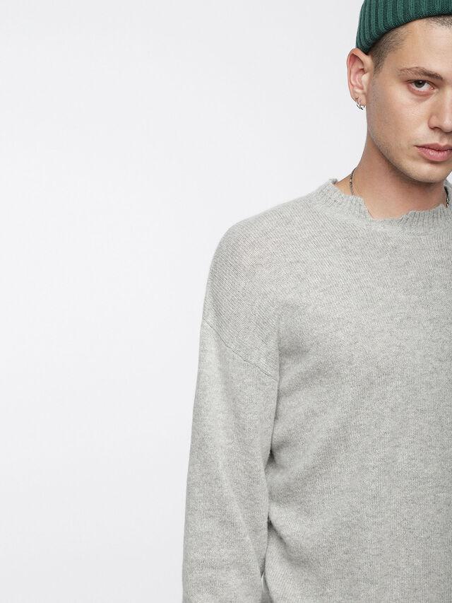 Diesel - K-MUST, Light Grey - Knitwear - Image 4