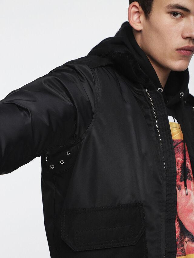 Diesel - W-SLOTKIN, Black - Winter Jackets - Image 4