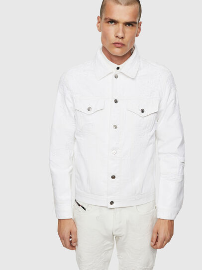 Diesel - NHILL, White - Denim Jackets - Image 1