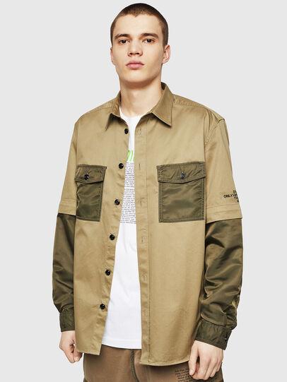 Diesel - S-KOSOV, Military Green - Shirts - Image 1