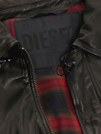 Diesel - L-LUC, Black - Leather jackets - Image 5