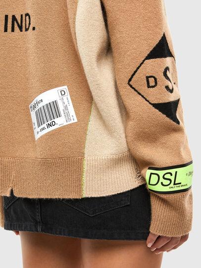 Diesel - M-ALYCIA, Beige - Knitwear - Image 5