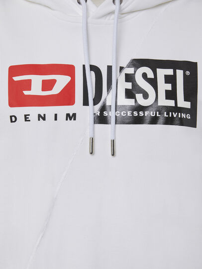Diesel - F-ANG-HOOD-CUTY, White - Sweaters - Image 3