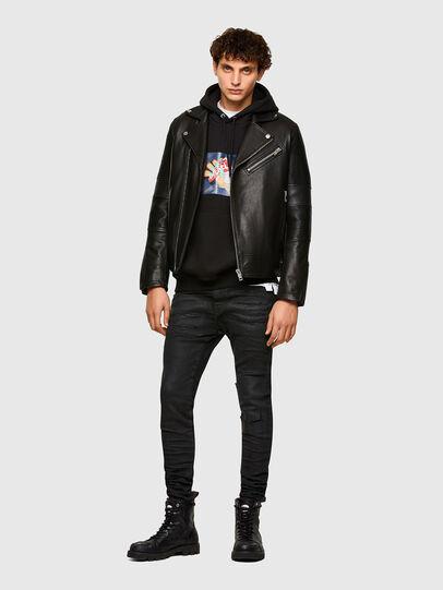 Diesel - L-STARKVILLE, Black - Leather jackets - Image 6