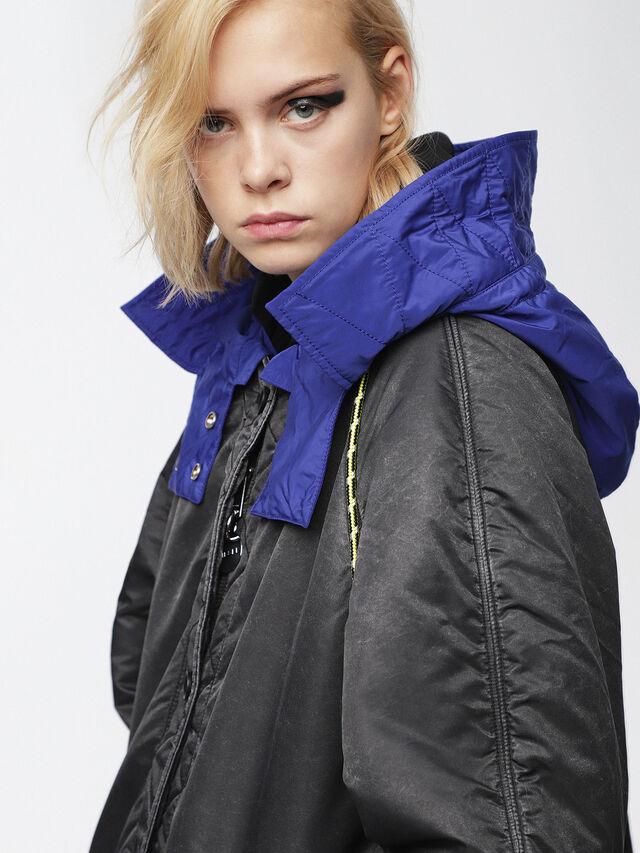 Diesel - W-ROME, Black/Blue - Winter Jackets - Image 3