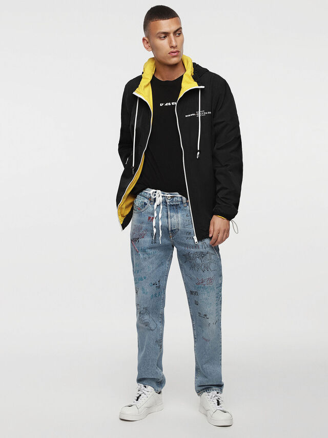 Diesel - J-PHOEN-PLAIN, Black/Yellow - Jackets - Image 4