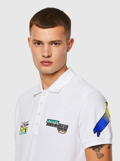 Diesel - ASTARS-T-NIGHT-NEW-B, White - Polos - Image 3