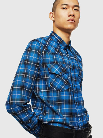 Diesel - S-EAST-LONG-N, Blue - Shirts - Image 4