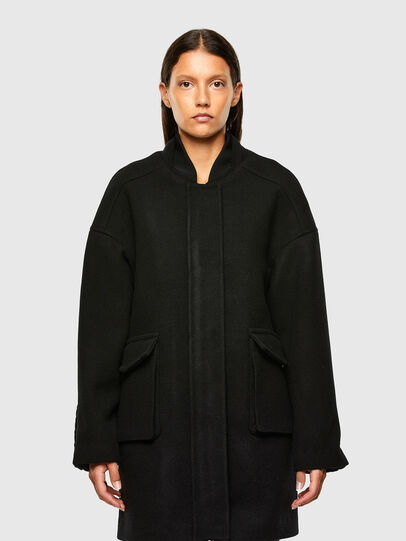 Diesel - W-LETHEA, Black - Winter Jackets - Image 1