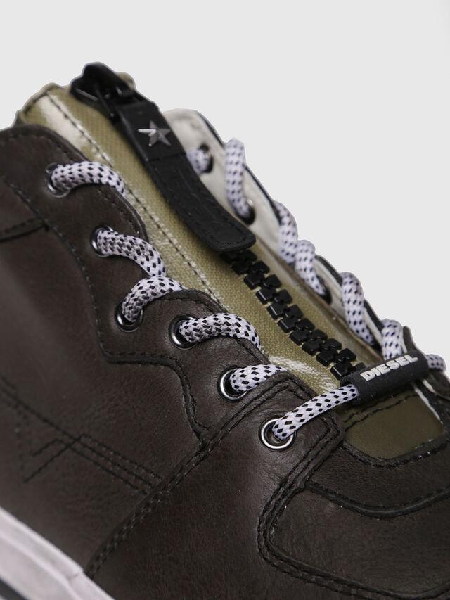 Diesel - S-GRINDD MID ZIP, Black - Sneakers - Image 4