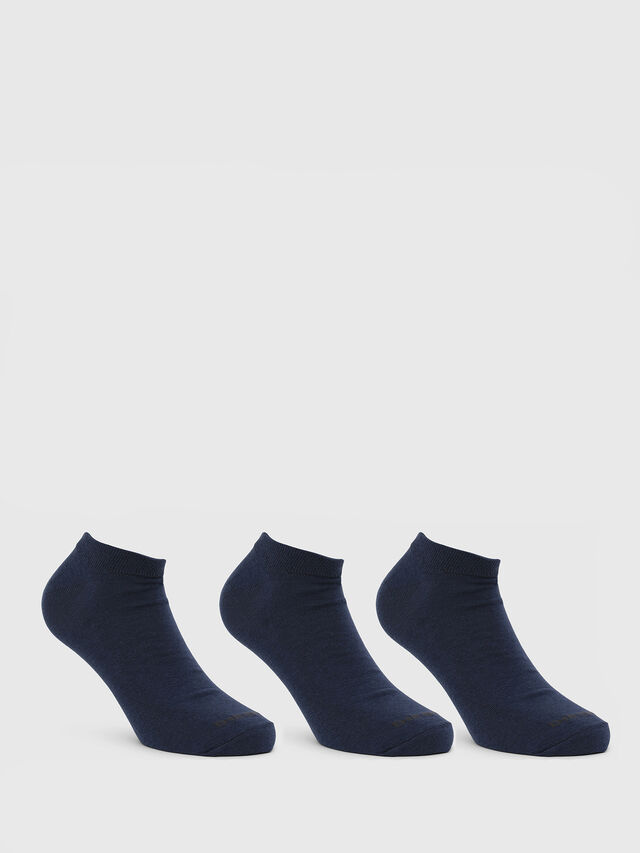 Diesel SKM-GOST-THREEPACK, Blue - Low-cut socks - Image 1