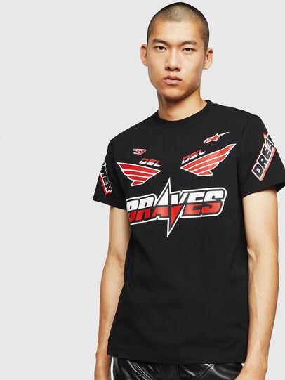 Diesel - ASTARS-T-DIEGO, Black - T-Shirts - Image 1