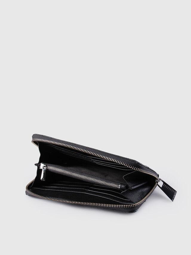 Diesel GRANATO, Black Leather - Zip-Round Wallets - Image 4
